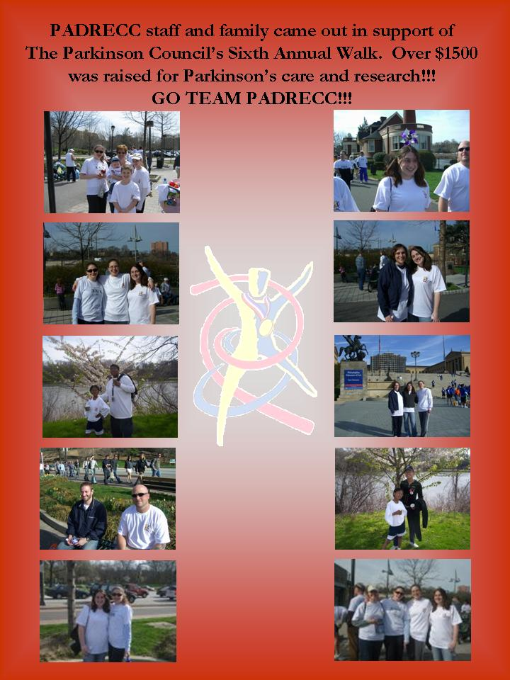 PADRECC Staff at the Parkinson Council's Walk Sixth Annual Walk
